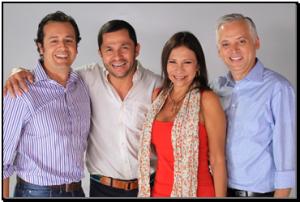 Marlon Quintero, Andres Lopez Lopez and Ibéyise Pacheco and Juan Carlos Sosa, EVP Operations Venevision Studios